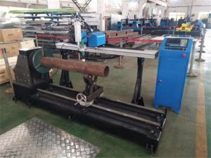 cnc plasma flame metal steel automatic pipe cutting machine , plasma cutter