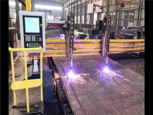 Double Drive Gantry CNC Plasma Cutting Machine H Beam Production Line Hypertherm CNC System