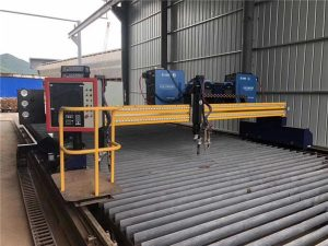 high-definition gantry cnc cutting & beveling machine with 9 flame torches for straight strip cut