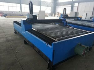 table type cnc plasma cutting machine with under water cutting plasma and flame cutting